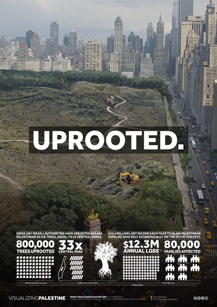 Visualizing Palestine - Uprooted poster