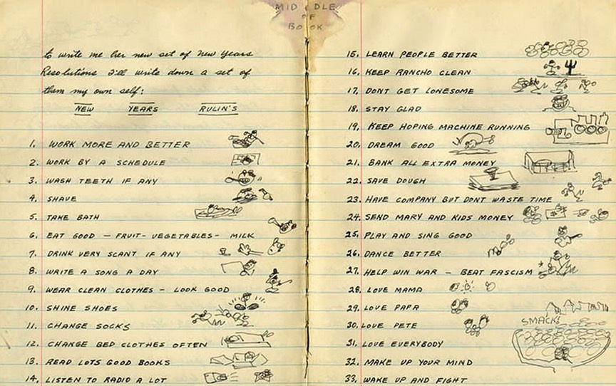 Woodie Guthrie - New Years Resolutions 1943